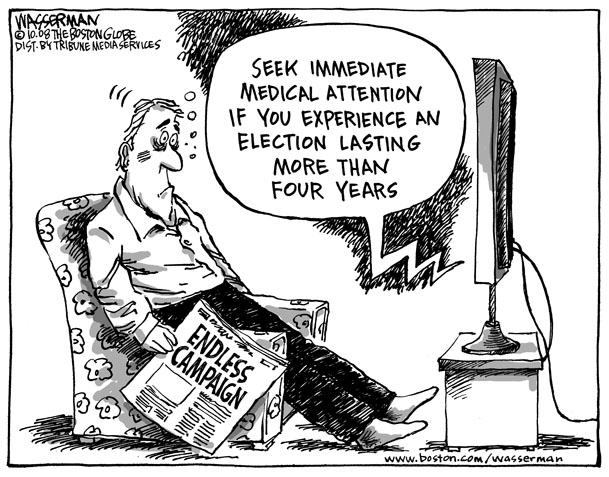 Political Cartoon Election Lasting 4 Years