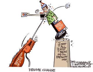 Regime Change Political Cartoon