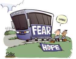 090212 Fear is Change from Hope Political Cartoon