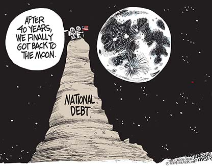 National Debt to the Moon
