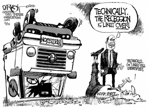 Recession Likely Over Cartoon