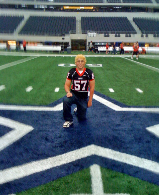 091122 Zach in Star at Cowboys Stadium