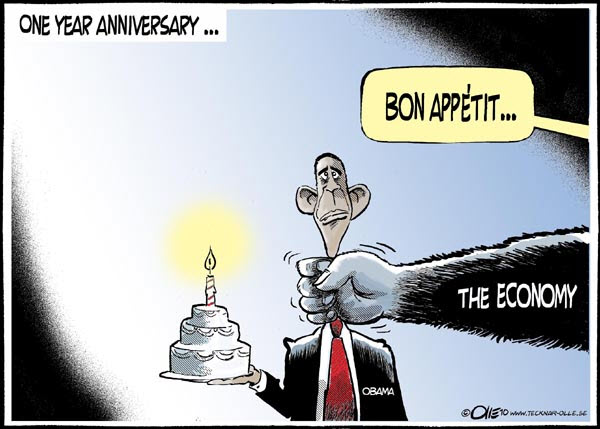 100207 President Obama and the Economy Cartoon