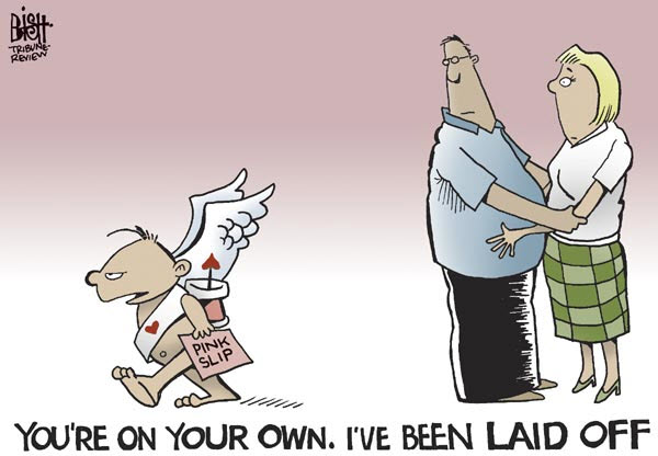 100214 Valentine's Day Cartoon Cupid Laid Off