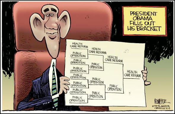 100321 Obama Fills Out His Bracket and Healthcare Wins