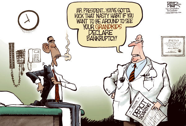 100329 Political Cartoon Medical Advice for Obama About the Deficit