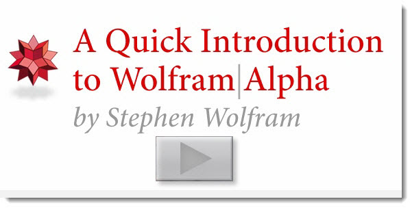 1006 Wolfram Alpha Demo Video