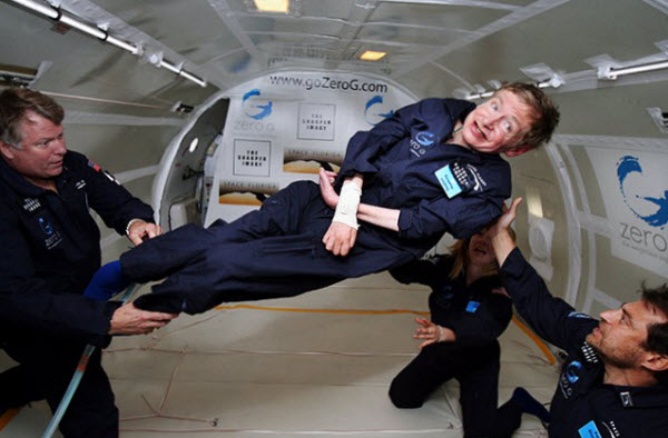 Hawking in a Zero Gravity Plane