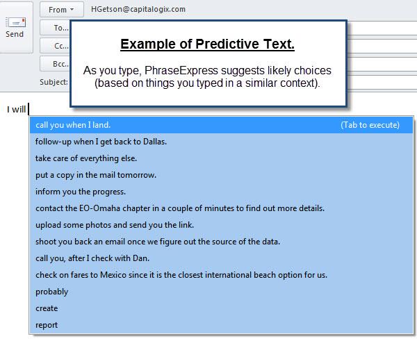 100911 PEX Predictive Text Examples