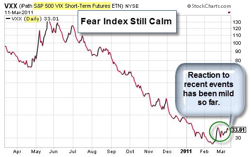 110313 Fear Index Still Showing Calm