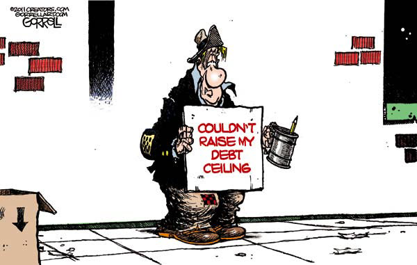 110723 Couldn't Raise My Debt Ceiling - Cartoon by Gorrell