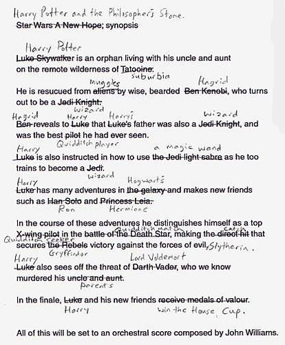110710 Harry Potter Script Compared to Star Wars