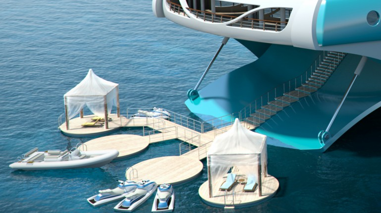 The Perfect Holiday Gift - A Yacht Built Like a Tropical Island ...