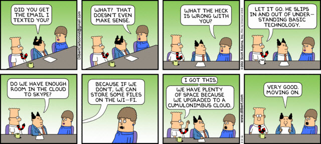 120519 Dilbert re Tech Savvy 120311 strip