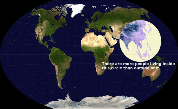 130621 Half of Earth's Population Lives in this Circle